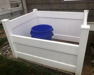 Trash can surround/enclosure