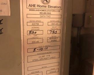 Specs on elevator