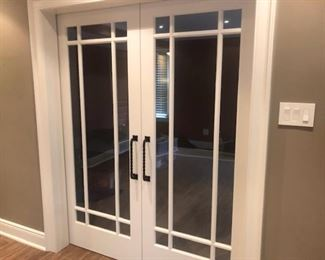 "Interior French sliders. 32"" doors"