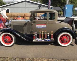 Multiple Award Winning 1930 Model A Coupe All Original Featured in 507th Fighter Group Newsletter Book