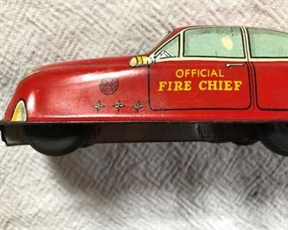 Marx fire chief toy