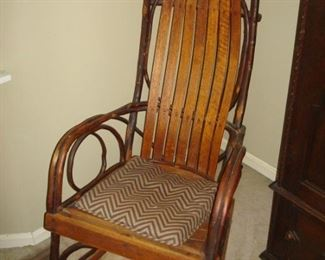 Vintage Adirondack rocking chair.