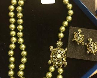 Hedi Daus Turtle Necklace/Earrings