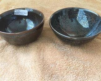 Temnmoku Pottery Bowls by Mary & Erwin Scheier