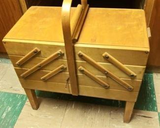 Vintage Sewing Box Full