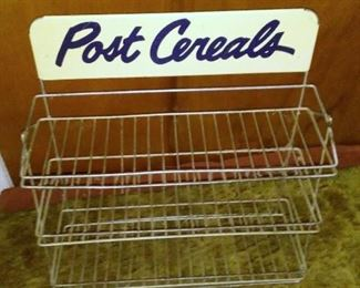 Vintage and scarce Post Cereals grocery store display rack.