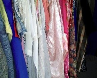A selection of clean and well-cared-for women's clothing.