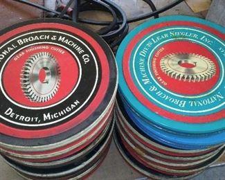 National Broach & Machining Co. of Detroit Michigan empty bearing cutter tins.
