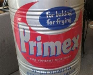 Huge Primex advertising tin.