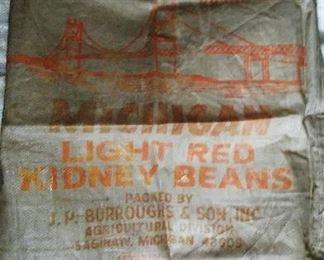 """Big Mac"" Michigan woven polyester seed & feed bag."