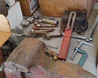 Vintage Craftsman bench vise.