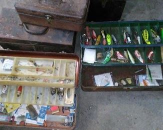 A small selection of the fishing lures.