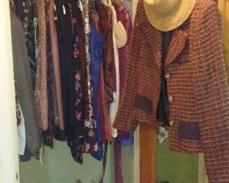 Selection of women's clothing.
