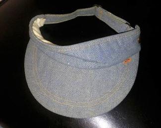 Vintage Levi Strauss orange tag sun visor cap.