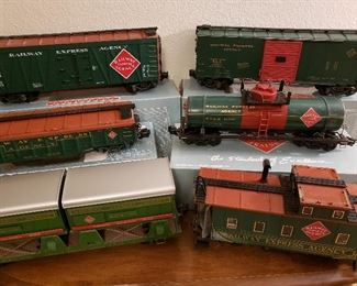 Set of G-scale train cars