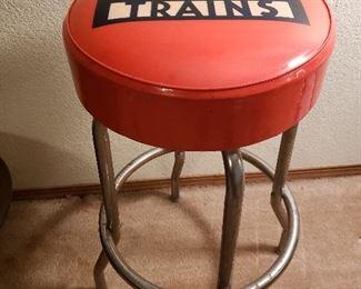 Vintage Lionel bar stool