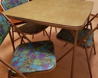 Stunning and rare MCM card table/chairs