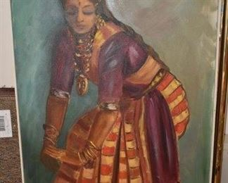 Oil on Canvas, Dancing Lady from India by Bruno '65'