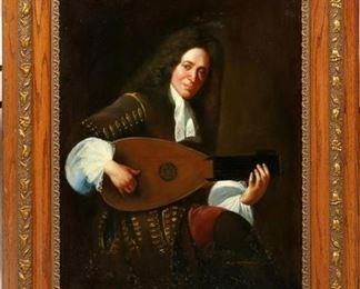 Man Playing Mandolin Instrument By D Campopiano (Previously sold by Dumuchelle's)