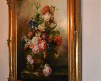Original Floral Oil Painting in Beautiful Frame