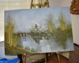 Signed Waterscape Oil Manuel