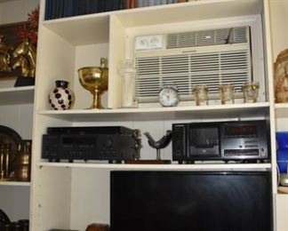 Pioneer Stereo System, Vases, Brass, Radios