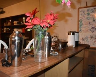 Vases and Flowers, Bar Items, Corning Coffee Pot