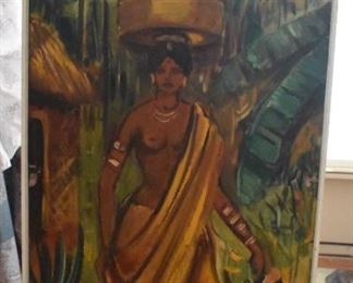 Oil on Canvas, African Lady