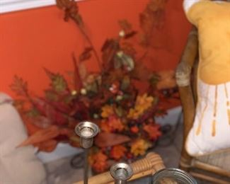 Lots of candle holders & fall decor!