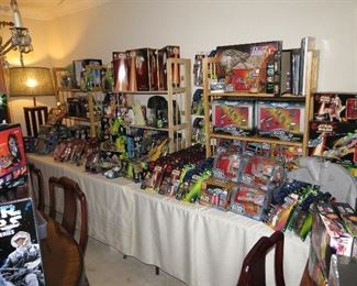 What you'll find is Star Wars Return of the Jedi and all subsequent movie toys as they were released.