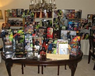 Star Wars magazines, comics, calendars, action figures and list goes on