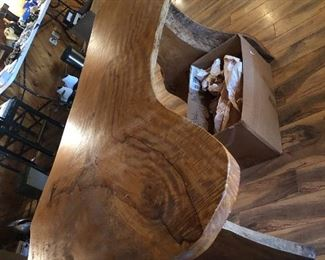 STUNNING LIVE EDGE TABLE FROM AUSTRALIA ....