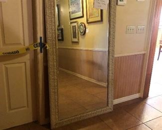 PERFECT SIZE BEVELED FLOOR MIRROR