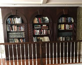 The bookcases are not for sale but the books are.