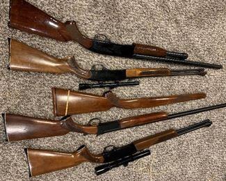 Winchester long guns and 1 Winchester shotgun.