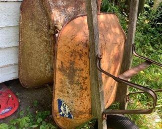 vintage wheel barrows
