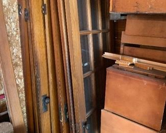 oak glass pane doors
