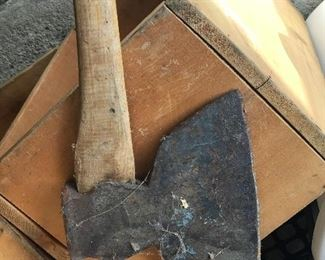marked broad axe