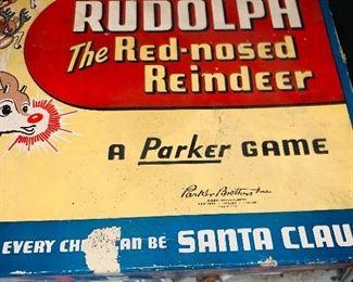 Rudolph parker bros 1950s board game