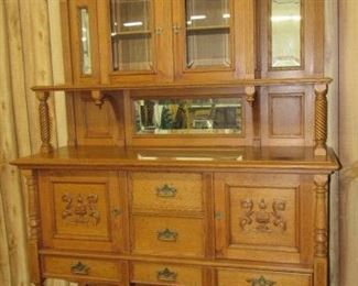 Fancy Oak Sideboard