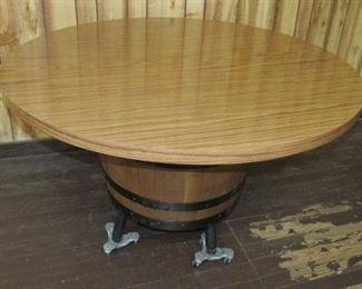 Mid Century Table w/Barrel Pedestal