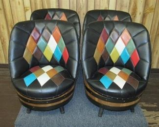 4 - Mid Century Barrel Chairs (Sells with Table)