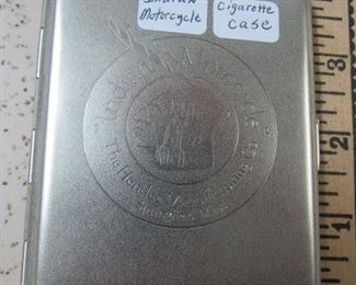 Metal Indian Motorcycles Cigarette Case