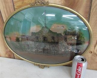 The Alamo - Reverse Painting on Glass