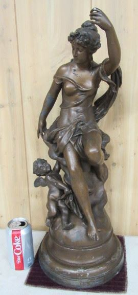 Spelter Lady Statue