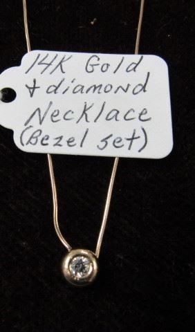 14K Gold & Diamond Necklace
