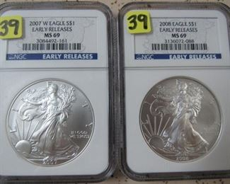 NGC Graded Silver Eagles