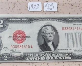 1928 Red Seal $2.00 Note