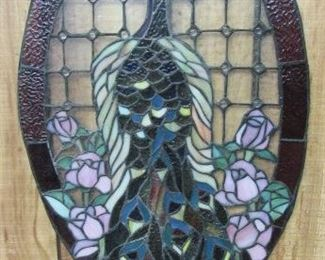 Stain Glass Peacock Window