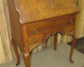 Oak Ladies Secretary Desk
